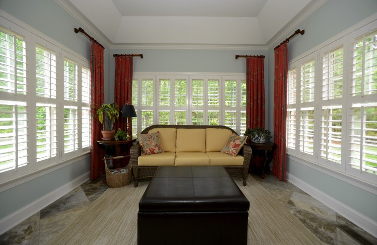 Plantation Shutters In A Austin Sunroom